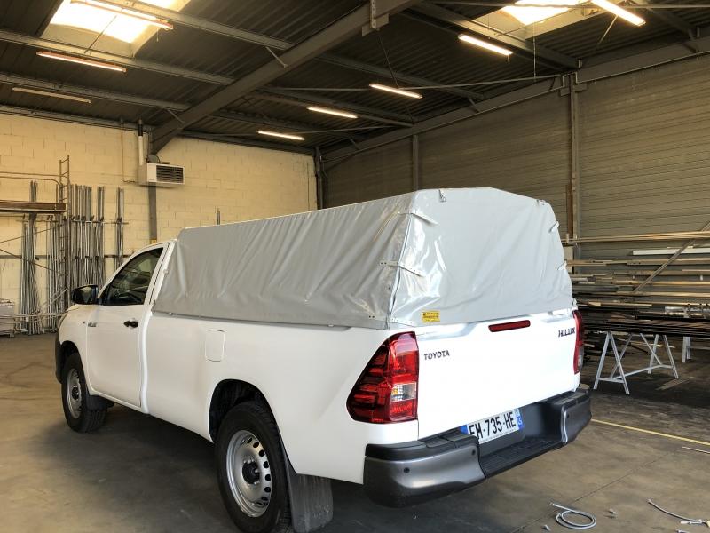 Protection arrière en toile PVC