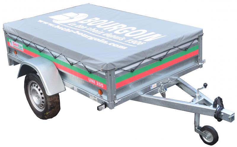 Bâche de remorque bagagère en toile PVC