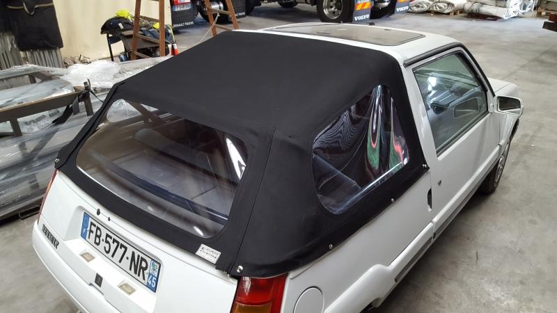 Capote arrière voiture