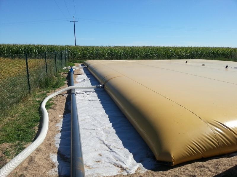 Citerne souple pour le stockage d'engrais liquide