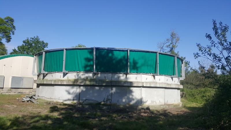 Bâche PVC pour couverture de fosse à lisier