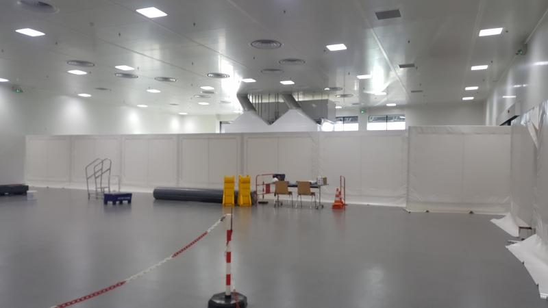 Mur de protection amovible en toile PVC