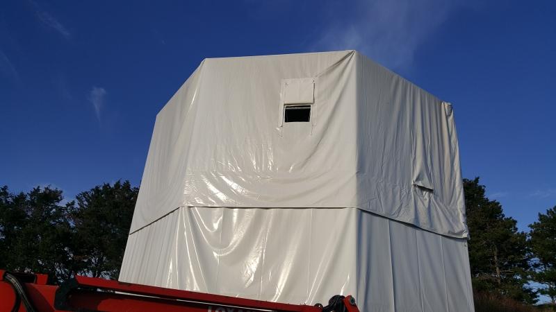 Protection sur mesure en toile PVC