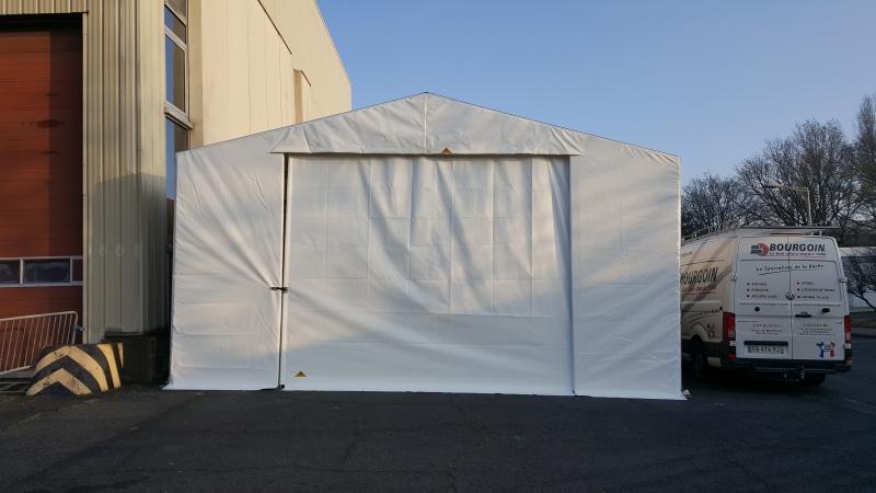 Protection en toile PVC, mur, toit et porte