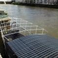 Armature d'un abris de terrasse pour bateau en toile PVC