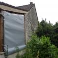 Mur en toile PVC pour un petit bâtiment