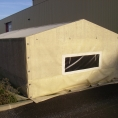 Toit et mur en toile pvc pour petite structure