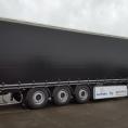 Bâche de rideau de camion noir
