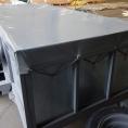 bâche en toile PVC pour remorque bagagère