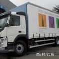 Bâche rideau pour camion poids lourds