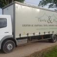 Rideau de camion en bâche