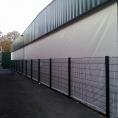 Bâche de mur de séparation de batiment en toile PVC