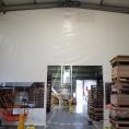 Mur de bâche en toile PVC pour la séparation d'un bâtiment