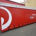 Container bâché en toile PVC