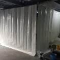 Mur de protection en toile PVC fermé