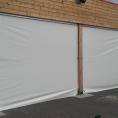 Mur de protection en bâche pour un bâtiment