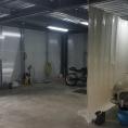 Mur de protection en toile PVC ouvert