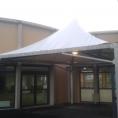 Toile PVC pour abri de terrasse avec petite structure