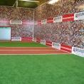 Publicité adhésive sur un mur pièce de sport