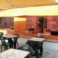Abri de terrasse de café en toile PVC
