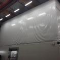 Mur en toile pvc pour usine