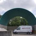 Tunnel sur muret