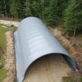 Tunnel de protection en bâche
